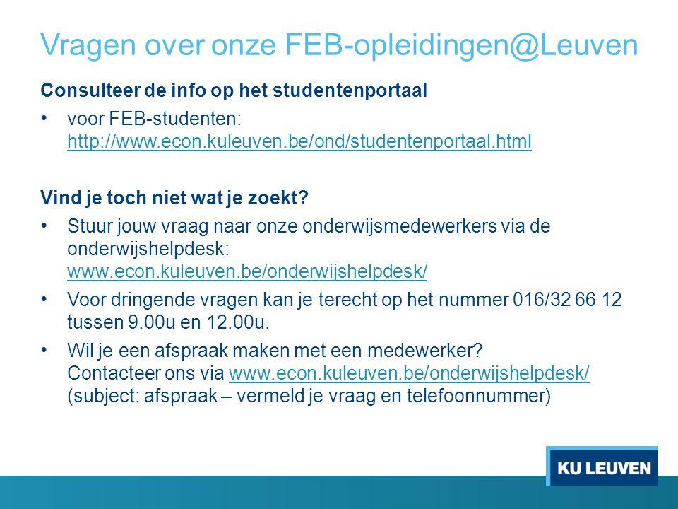 Vragen over onze FEB-opleidingen@Leuven
