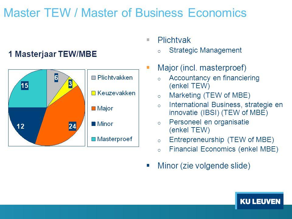 Master TEW / Master of Business Economics