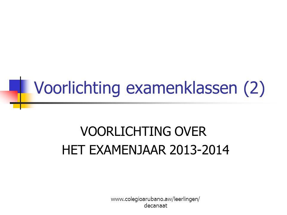 Voorlichting examenklassen (2)