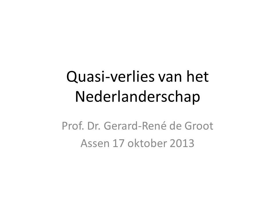Quasi-verlies van het Nederlanderschap