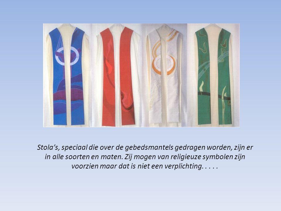 Stola's, speciaal die over de gebedsmantels gedragen worden, zijn er in alle soorten en maten.