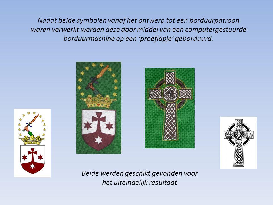 Nadat beide symbolen vanaf het ontwerp tot een borduurpatroon
