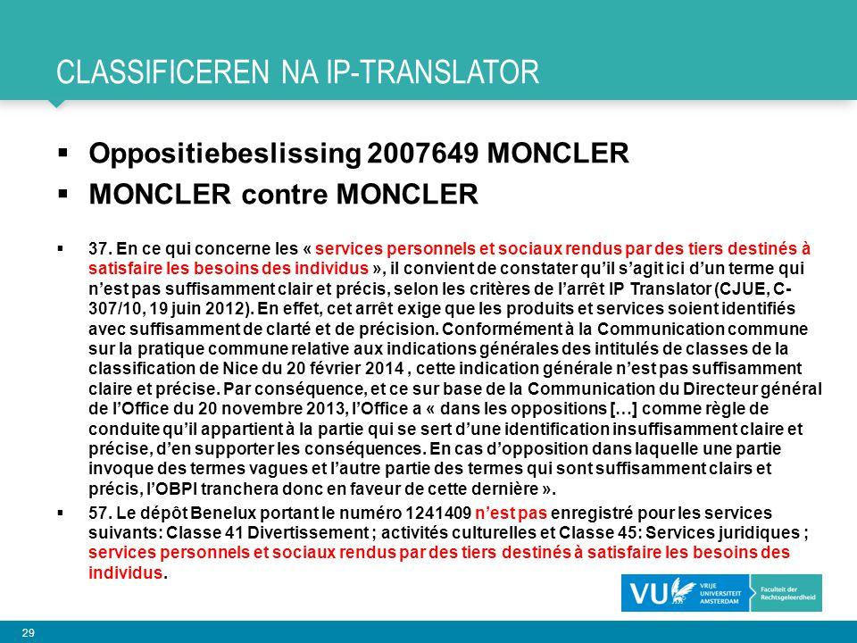 CLASSIFICEREN NA IP-TRANSLATOR
