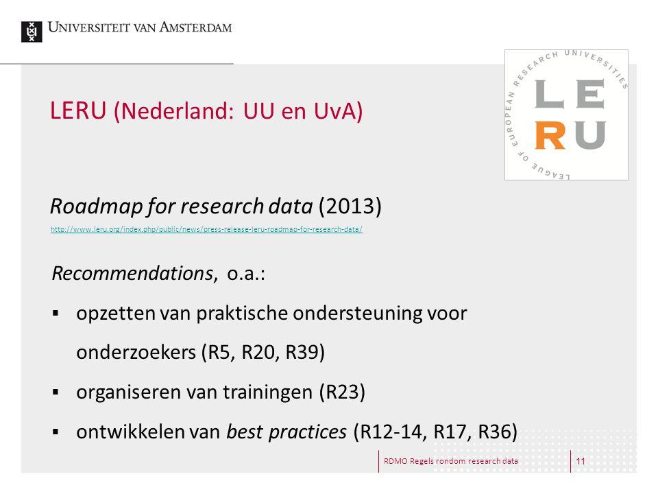 LERU (Nederland: UU en UvA)