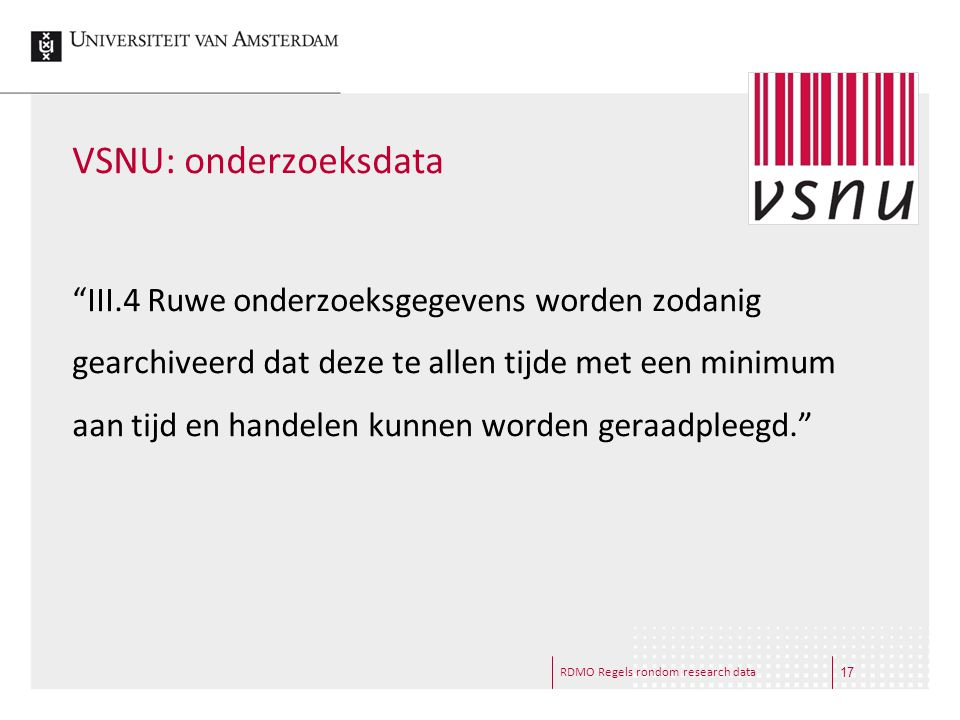 VSNU: onderzoeksdata