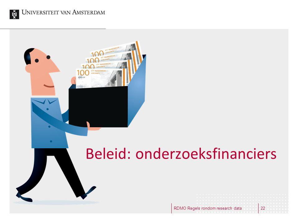 Beleid: onderzoeksfinanciers