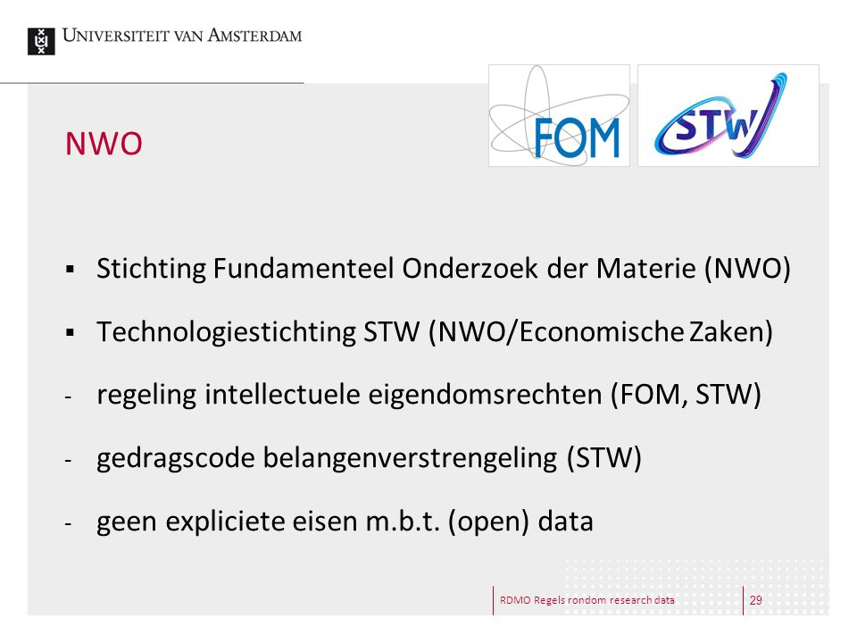 NWO Stichting Fundamenteel Onderzoek der Materie (NWO)
