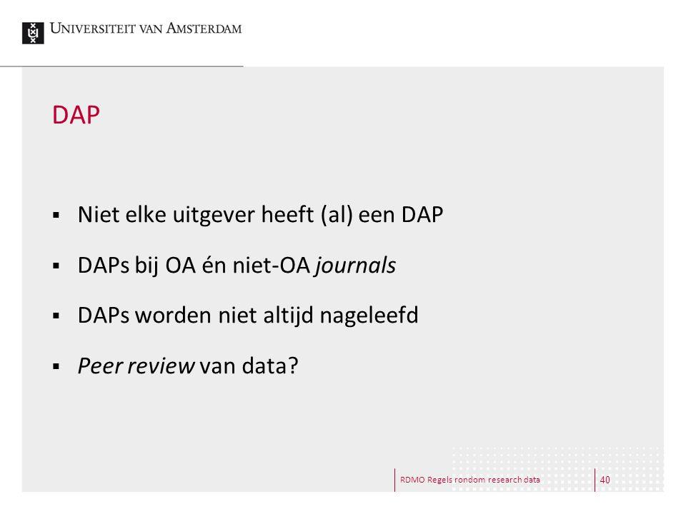 DAP Niet elke uitgever heeft (al) een DAP
