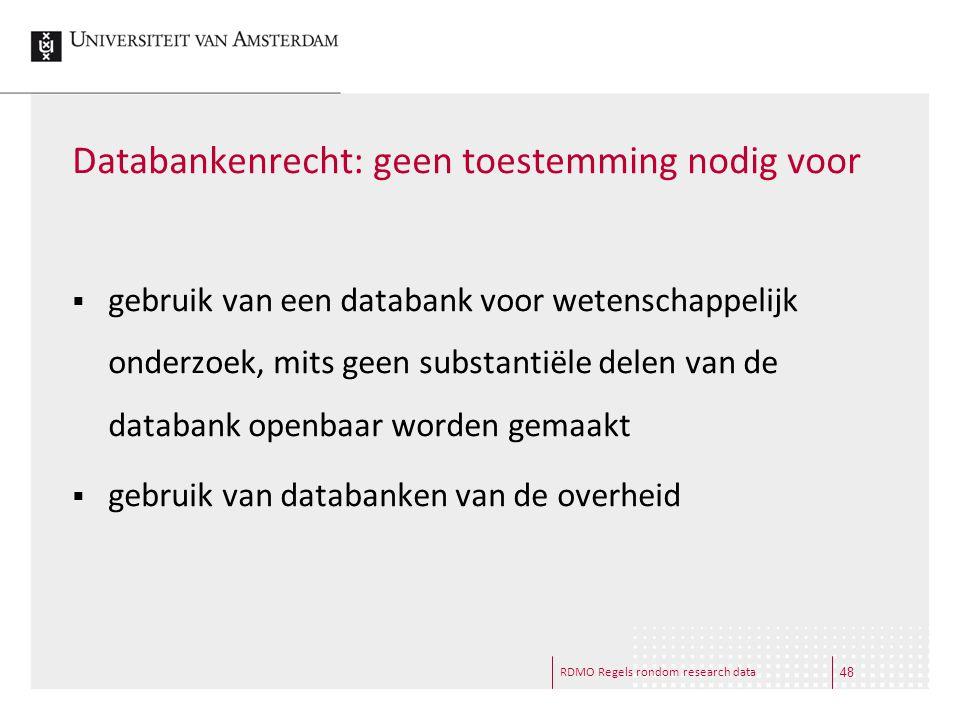 Databankenrecht: geen toestemming nodig voor