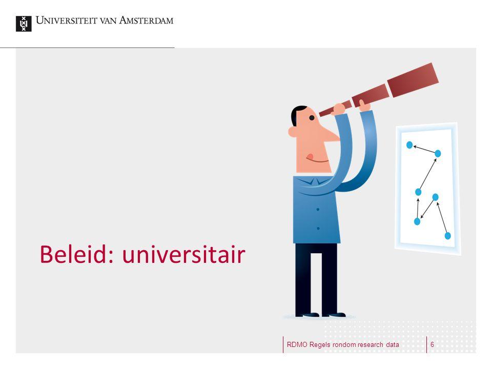 Beleid: universitair RDMO Regels rondom research data