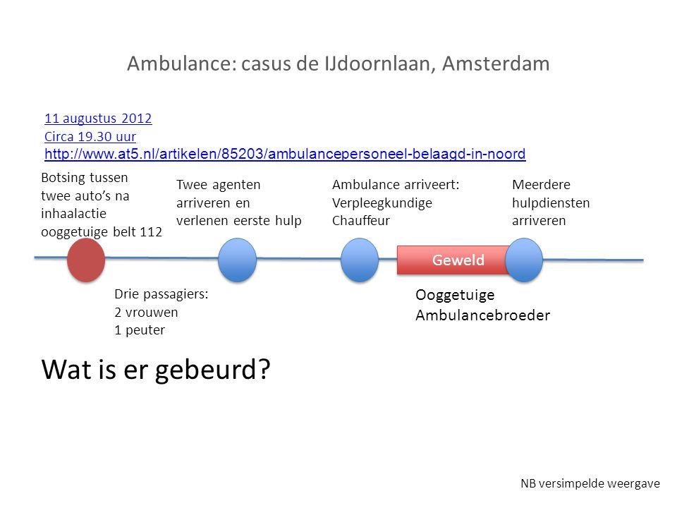 Ambulance: casus de IJdoornlaan, Amsterdam