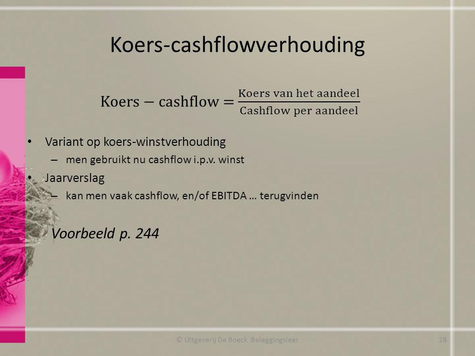 Koers-cashflowverhouding
