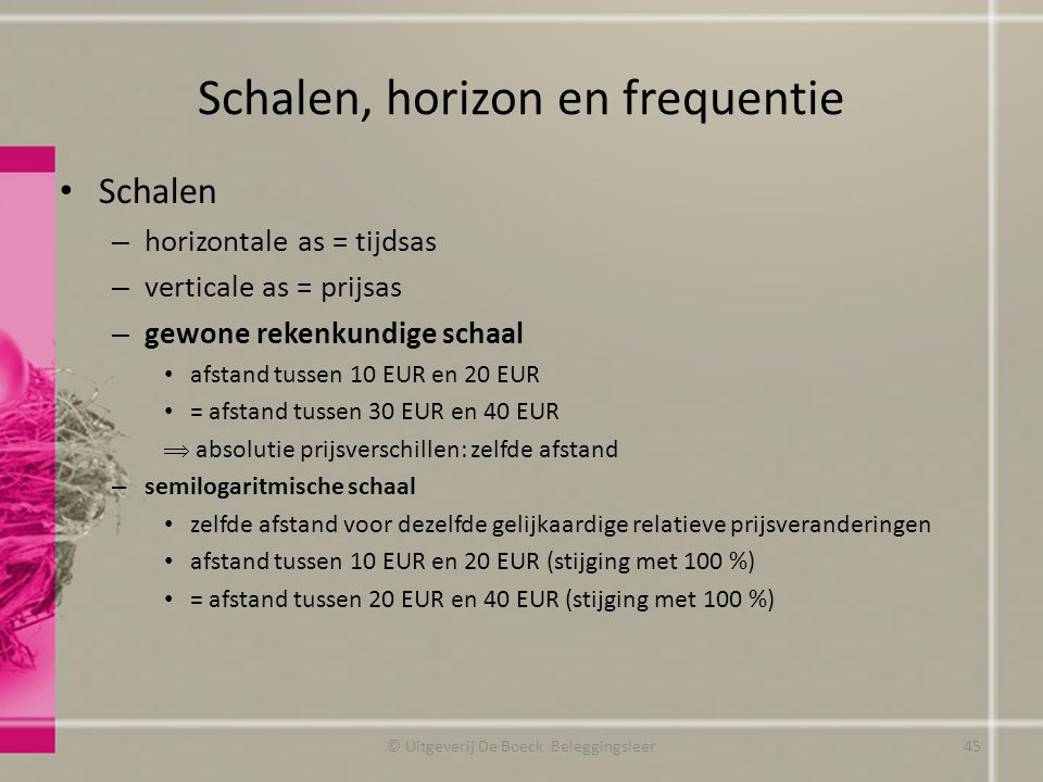 Schalen, horizon en frequentie