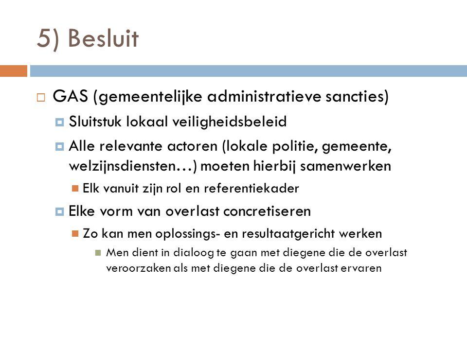 5) Besluit GAS (gemeentelijke administratieve sancties)