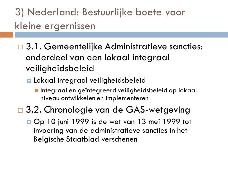 3) Nederland: Bestuurlijke boete voor kleine ergernissen