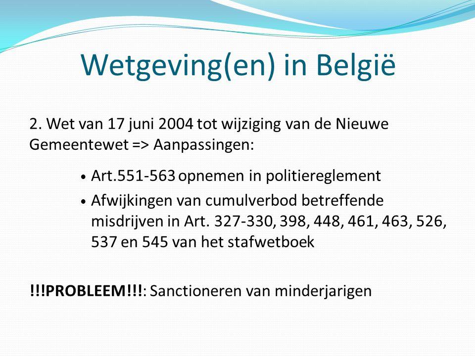 Wetgeving(en) in België