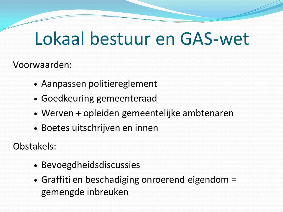 Lokaal bestuur en GAS-wet