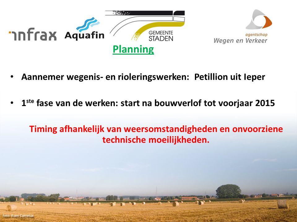 Planning Aannemer wegenis- en rioleringswerken: Petillion uit Ieper