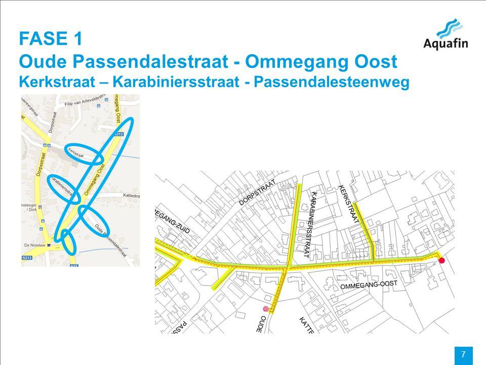 FASE 1 Oude Passendalestraat - Ommegang Oost Kerkstraat – Karabiniersstraat - Passendalesteenweg