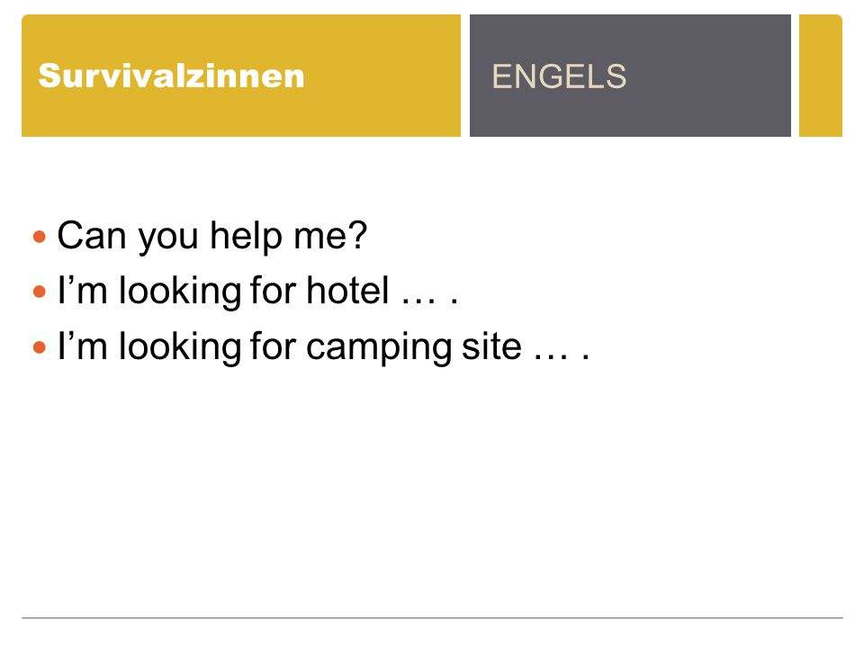 I'm looking for camping site … .