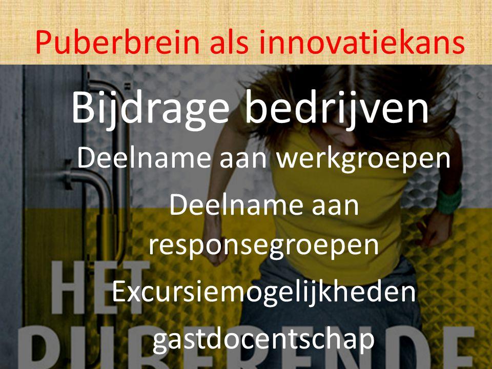Bijdrage bedrijven Puberbrein als innovatiekans