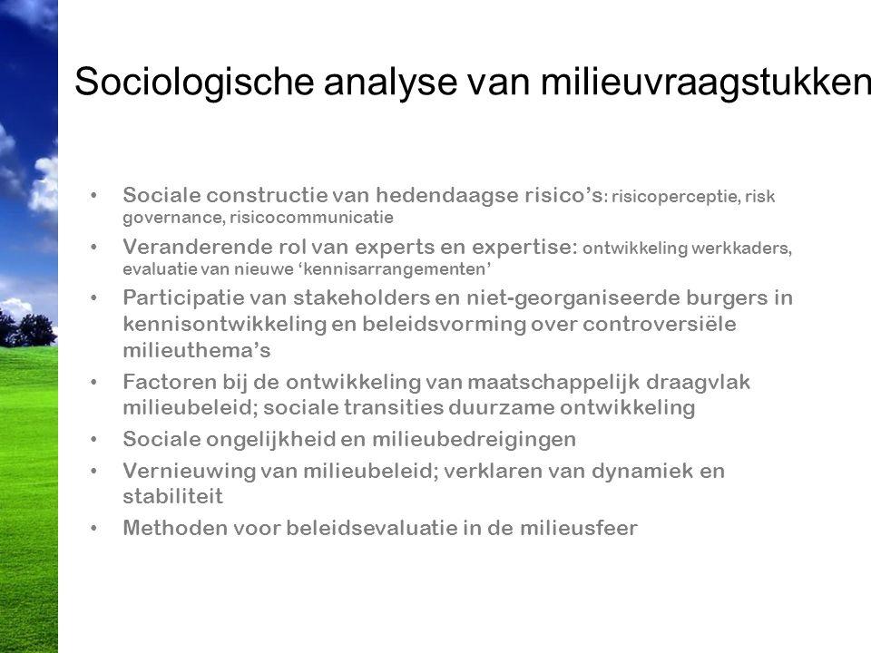 Sociologische analyse van milieuvraagstukken