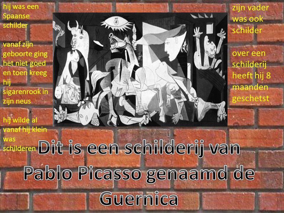 Dit is een schilderij van Pablo Picasso genaamd de Guernica