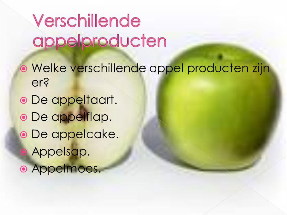 Verschillende appelproducten
