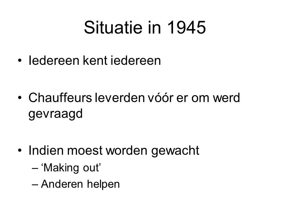 Situatie in 1945 Iedereen kent iedereen