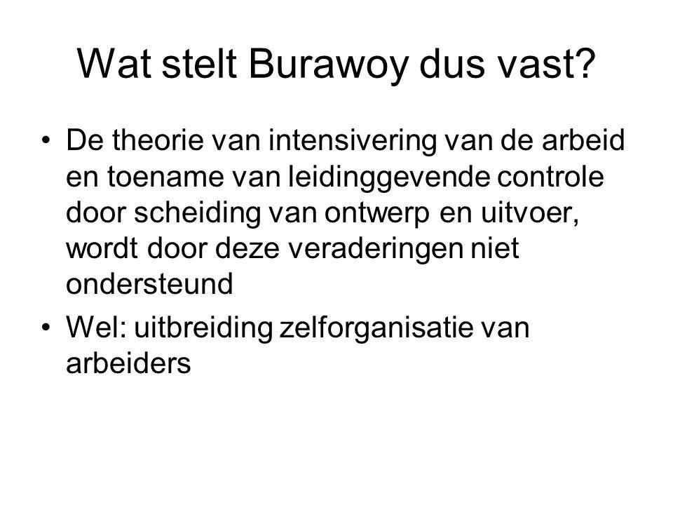 Wat stelt Burawoy dus vast