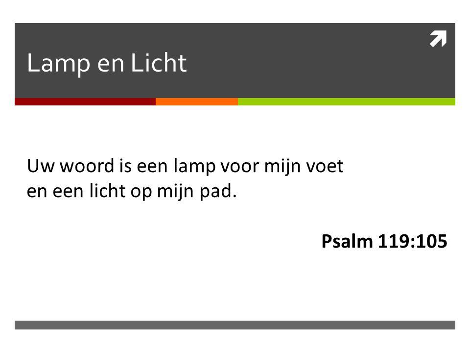 Lamp en Licht Uw woord is een lamp voor mijn voet