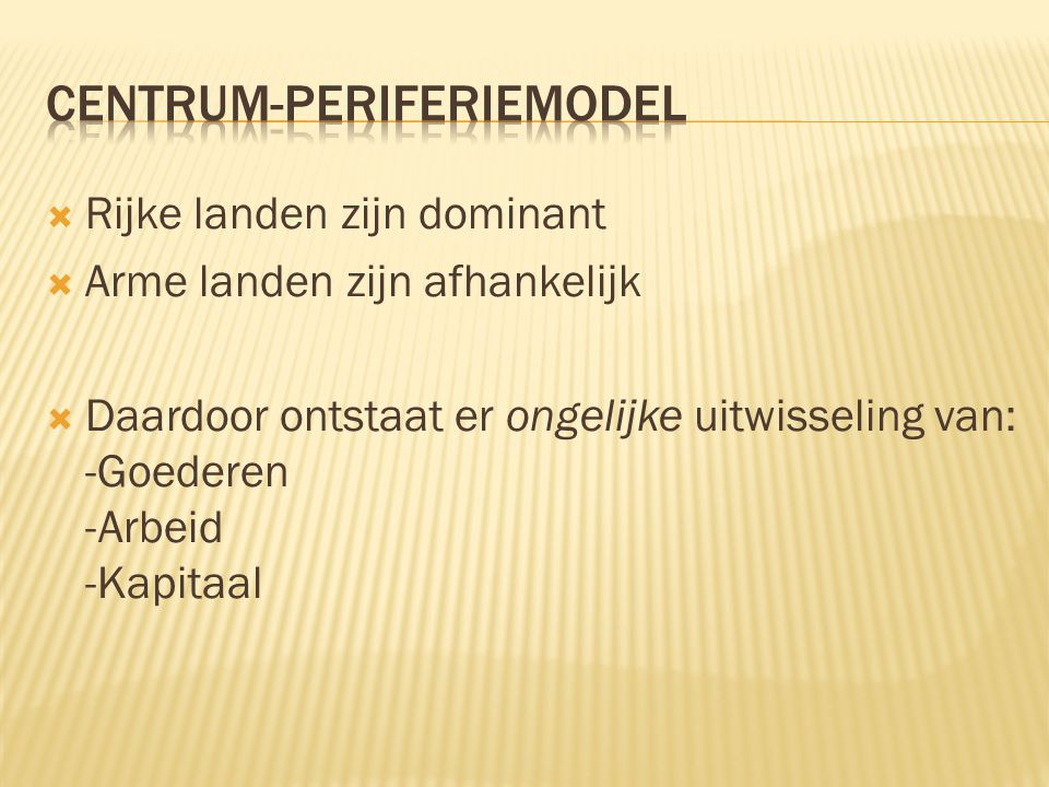 Centrum-periferiemodel