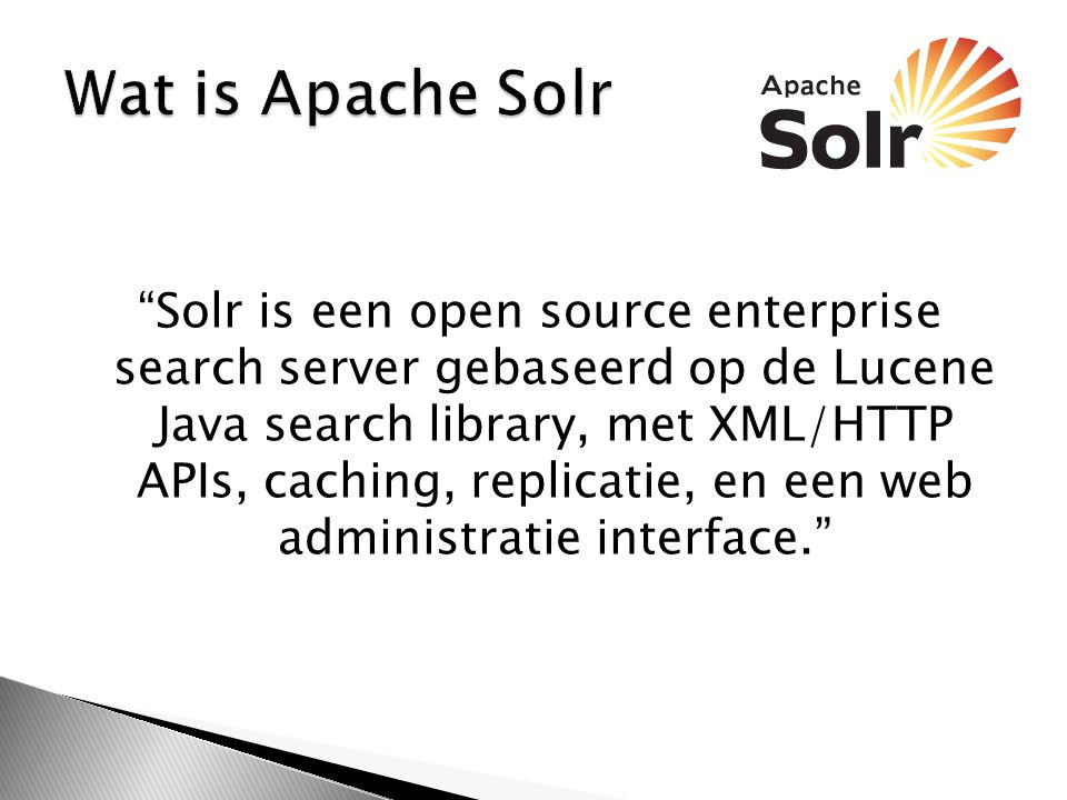 Wat is Apache Solr