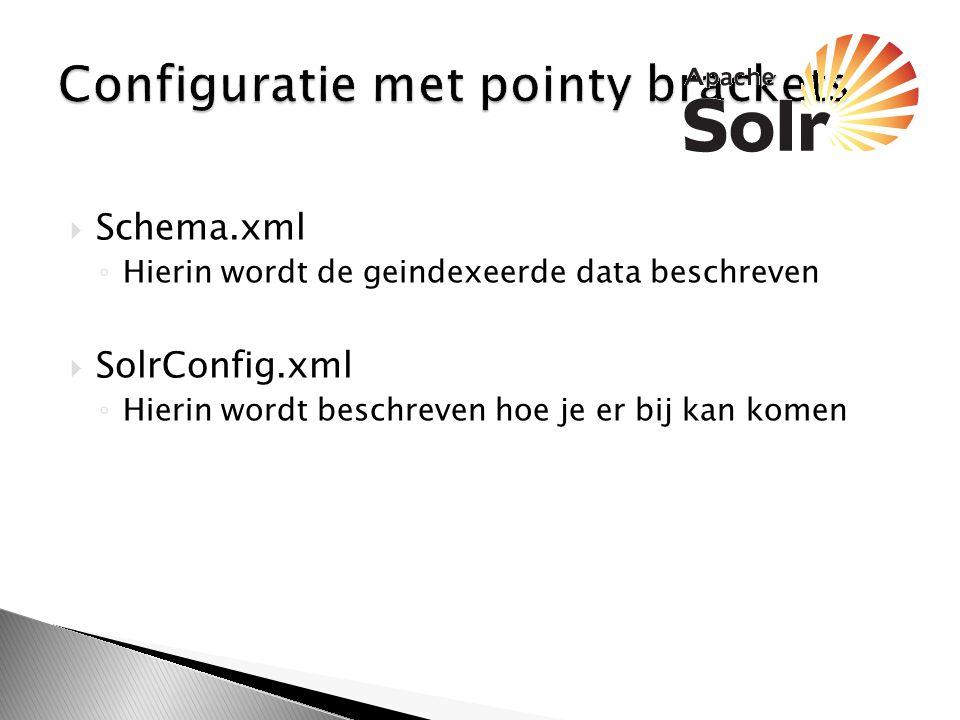 Configuratie met pointy brackets
