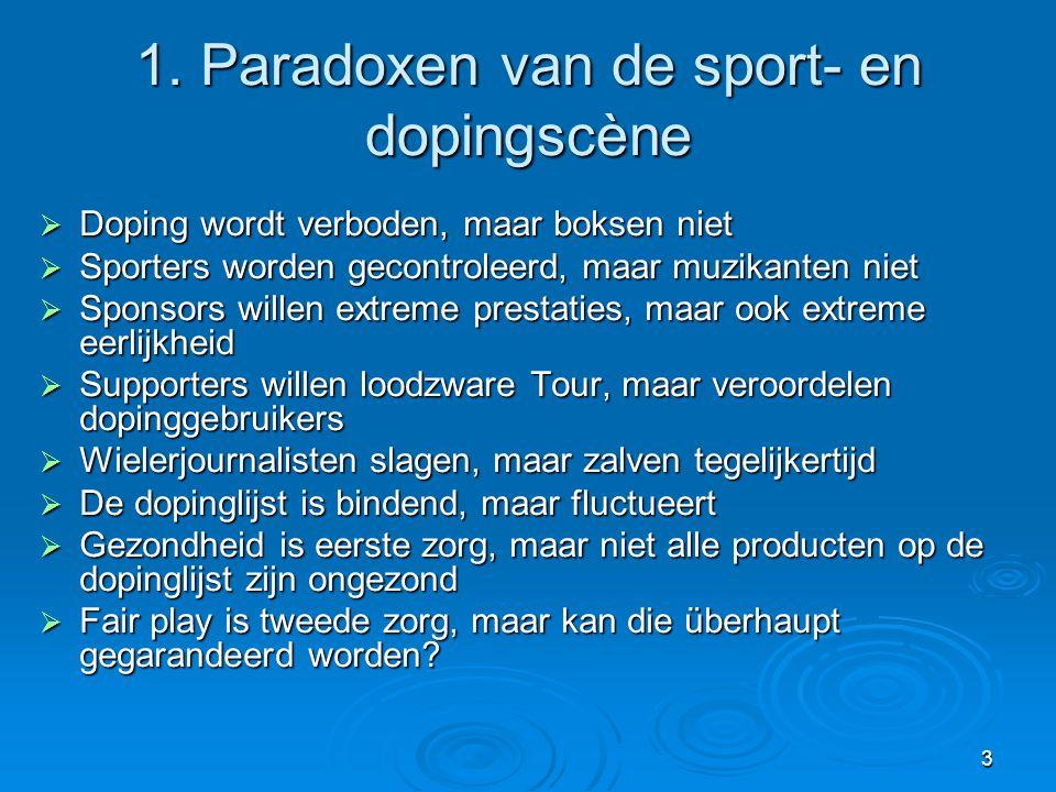 1. Paradoxen van de sport- en dopingscène