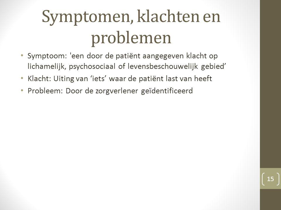 Symptomen, klachten en problemen