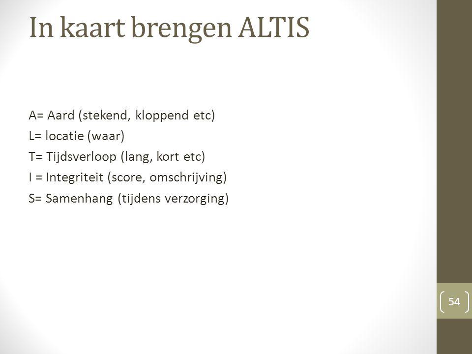 In kaart brengen ALTIS