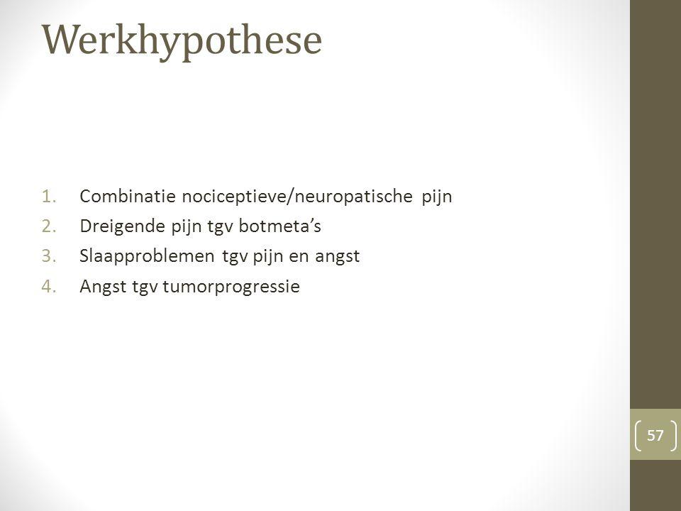 Werkhypothese Combinatie nociceptieve/neuropatische pijn
