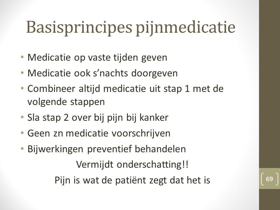 Basisprincipes pijnmedicatie