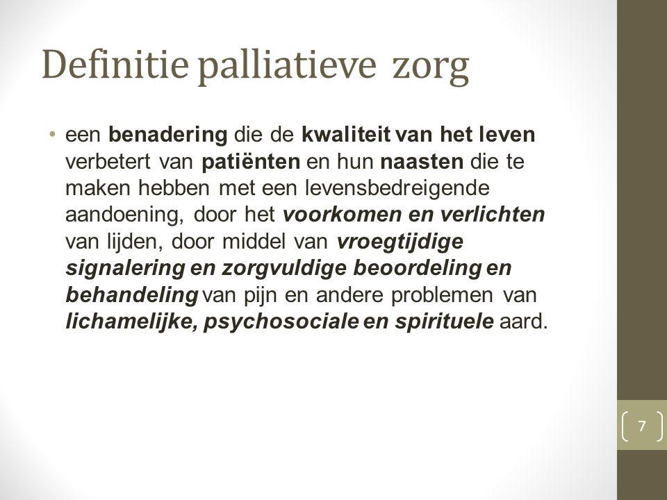 Definitie palliatieve zorg