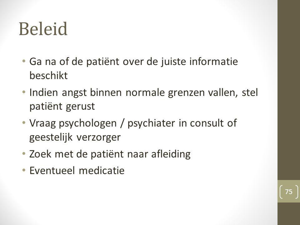Beleid Ga na of de patiënt over de juiste informatie beschikt