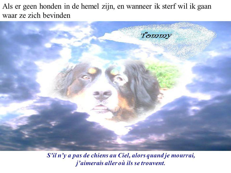 Als er geen honden in de hemel zijn, en wanneer ik sterf wil ik gaan waar ze zich bevinden