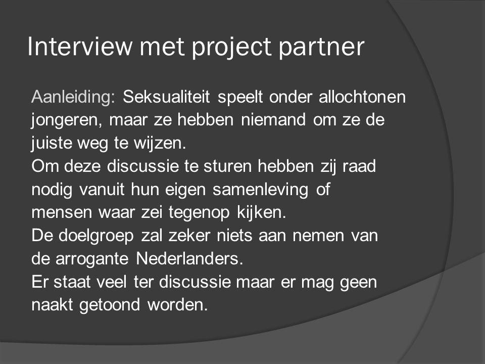 Interview met project partner
