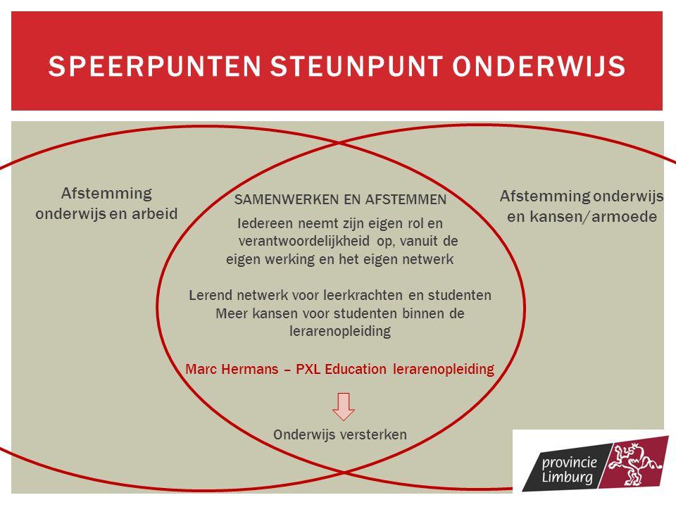 Speerpunten Steunpunt onderwijs