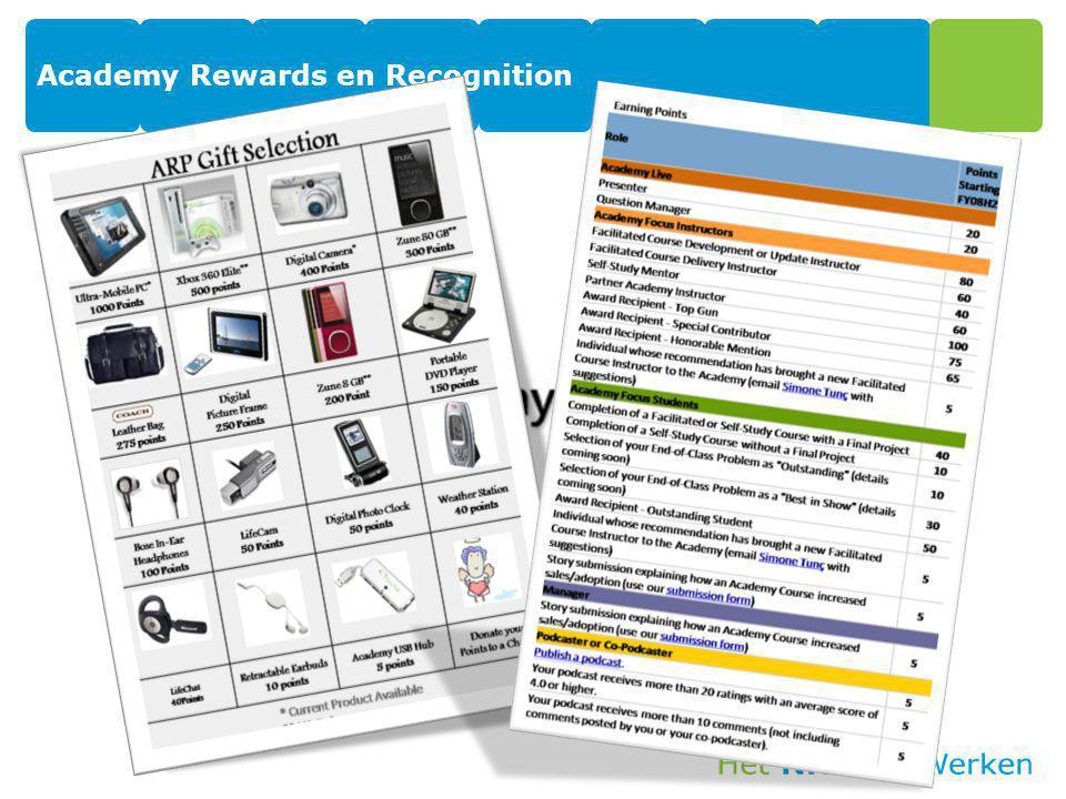 Academy Rewards en Recognition
