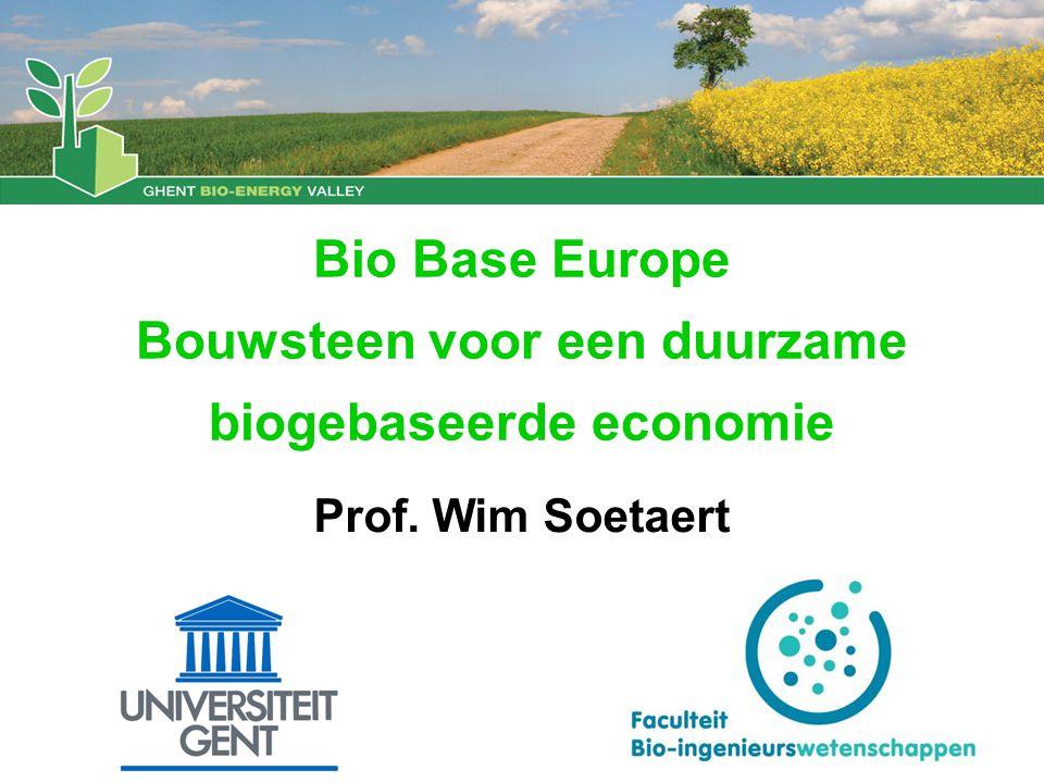 Bio Base Europe Bouwsteen voor een duurzame biogebaseerde economie