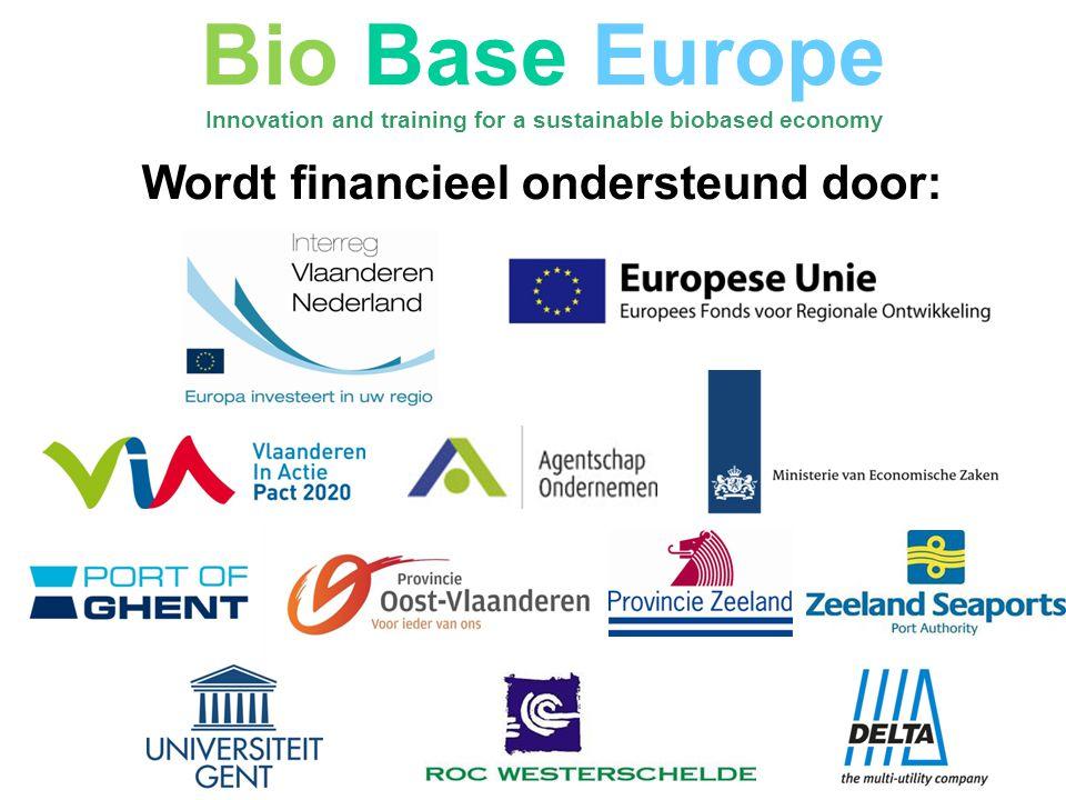 Bio Base Europe Wordt financieel ondersteund door: