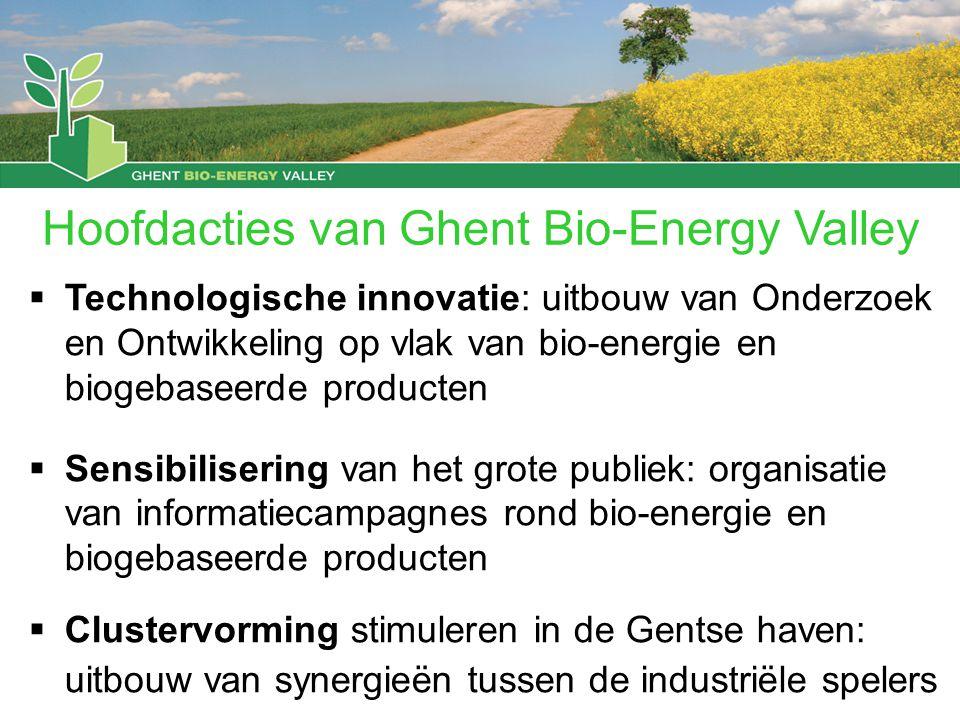 Hoofdacties van Ghent Bio-Energy Valley