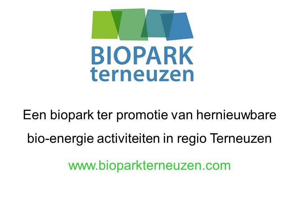 Een biopark ter promotie van hernieuwbare bio-energie activiteiten in regio Terneuzen