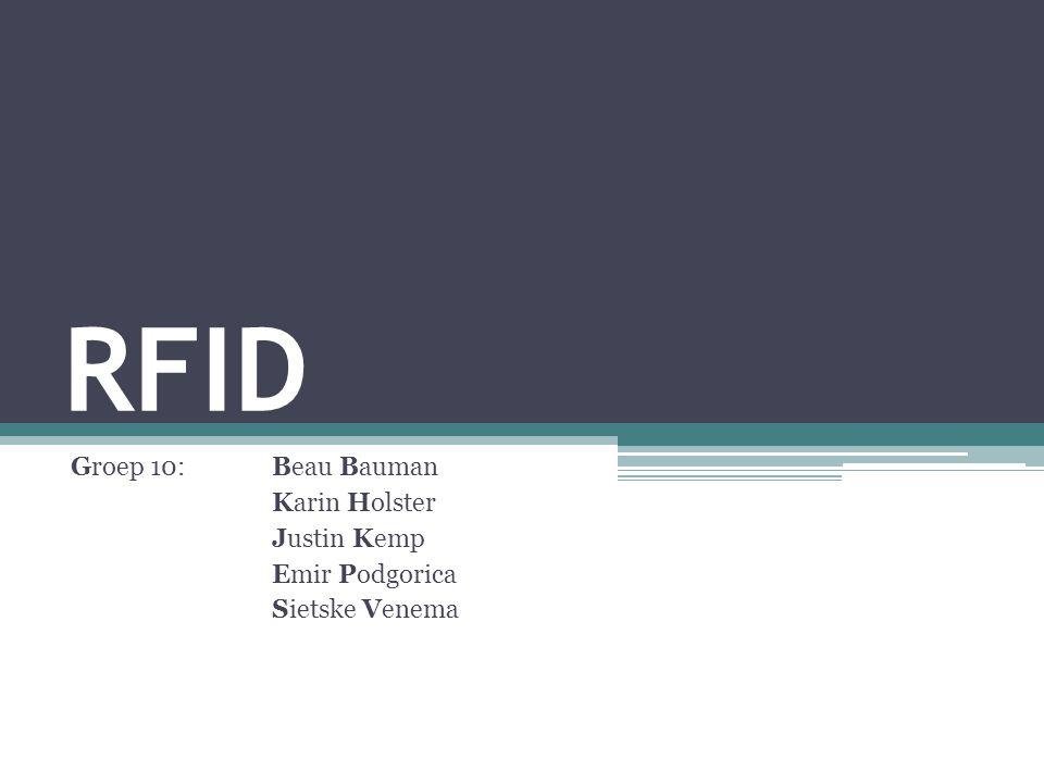 RFID Groep 10: Beau Bauman Karin Holster Justin Kemp Emir Podgorica